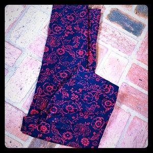 LOFT Floral Print Cropped Pants